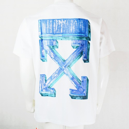 Off-White Blue Marker Arrows Tee